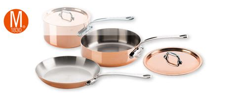 mauviel copper cookware  shipping  french copper pots pans