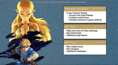 Dlc Zelda Breath Of The Wild Zelda Breath Of The Wild Will Have A Dlc Expansion Pass