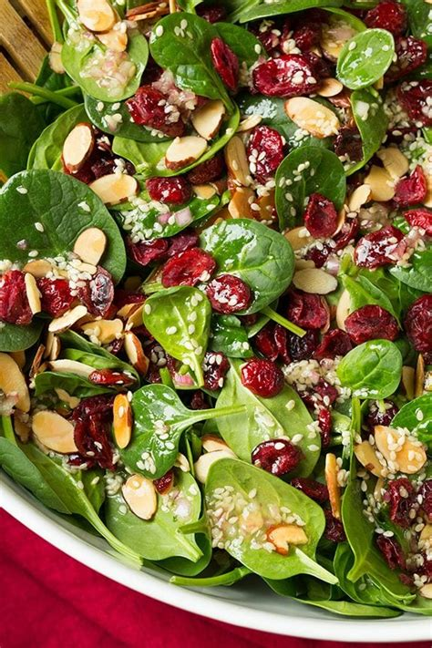 cranberry almond spinach salad cooking classy