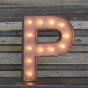 "Edison Marquee Letter - ""P"" Town & Country Event Rentals"