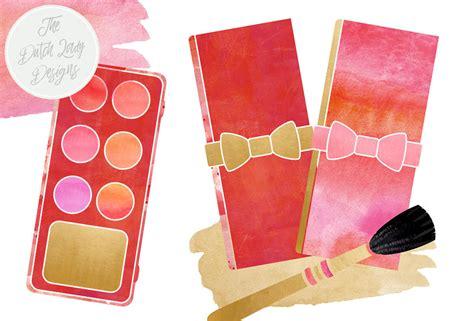 makeup beauty clipart set   dutch lady designs