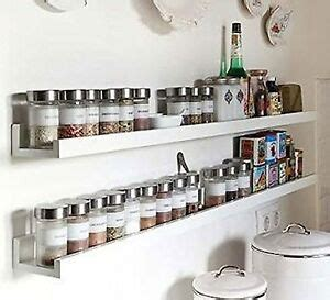 White Wood Spice Rack by Wall Mount Spice Rack Floating Shelf Wood White 46 Inch