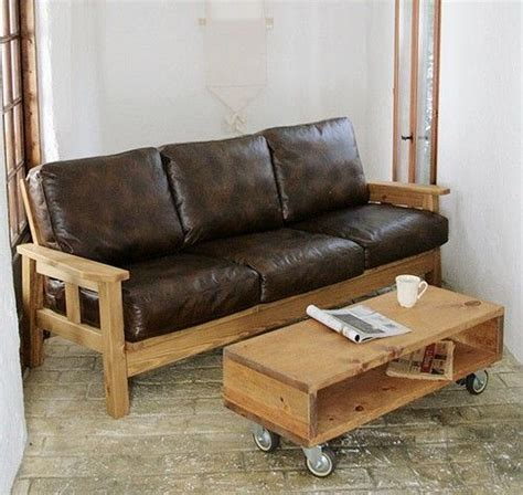 Loveseat Wood by Leather Loveseat With Wood Arm Rests Wood Leather Sofa