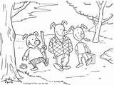 Pigs Three Coloring Pages Printable Story Walking Printables Fortune Seek sketch template