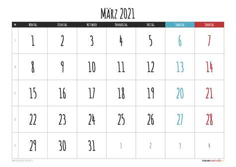 Wir haben einen speziellen kalender 2021 zum ausdrucken als pdf für sie erstellt. Monatskalender März 2021 Zum Ausdrucken Kostenlos / Kalender 2021 : Auch zum ausdrucken als pdf.