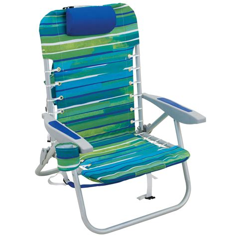 Backpack Chair Aluminum by Deluxe Lace Up Backpack Chair Caribbean Stripe