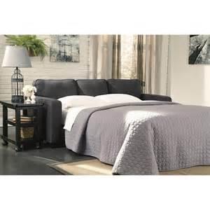 ashley ashley alenya microfiber queen size sleeper sofa in