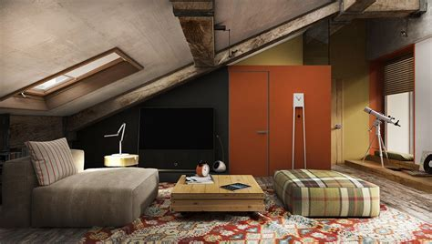 Creative Top Floor Rooms With Wood Accents