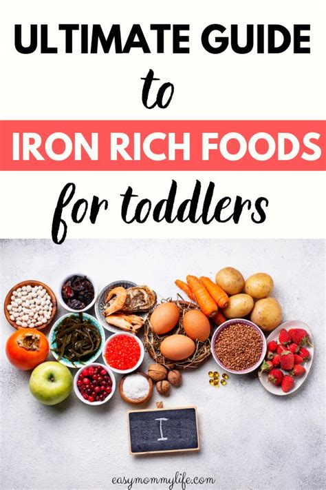ultimate guide  iron rich foods  toddlers iron