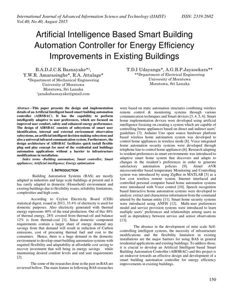 (PDF) Artificial Intelligence Based Smart Building