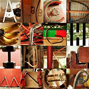 letters made from objects With pictures of letters made from objects