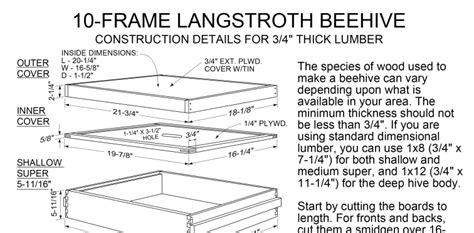 langstroth  frame dimensions allcanwearorg