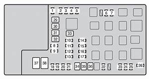 Toyota Tacoma  From 2013  - Fuse Box Diagram