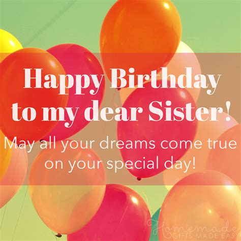 happy birthday wishes  sister find  perfect quote  message