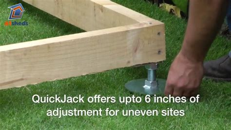 quickjack shed base   create  fast shed foundation youtube