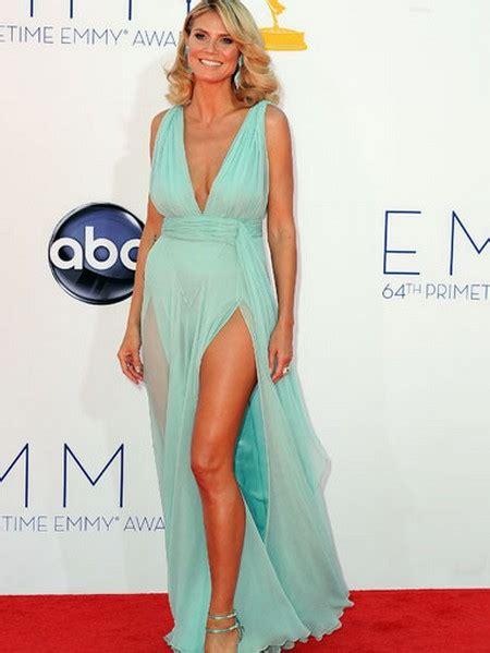 Emmys Heidi Klum Cleavage Celeb Dirty Laundry