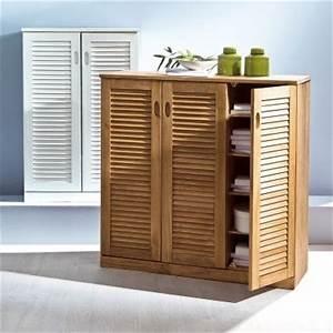 Meuble Persienne : meuble de rangement 2 portes persiennes en pin massif certifi fsc acheter ce produit au ~ Melissatoandfro.com Idées de Décoration