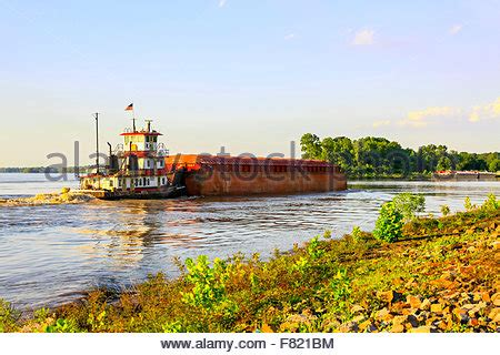 Tugboat New Orleans by Tugboat Pushing Barge Mississippi River New Orleans