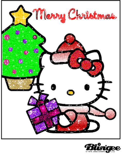 hello kitty natale glitter picture 83947434 blingee com