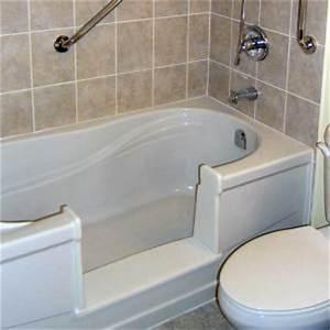 Bathtub cutout insert including grab bar 795 grab it for Bathroom conversions for elderly