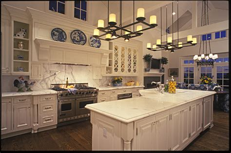 Houzz Living Room Lighting by Large Country Kitchen Traditional Kitchen San Diego