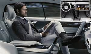volvo unveils concept interior    driving car