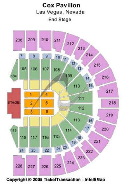 Cox Las Vegas Nv by Cox Pavilion Tickets And Cox Pavilion Seating Chart Buy