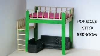 miniature doll bedroom furniture easy popsicle stick crafts