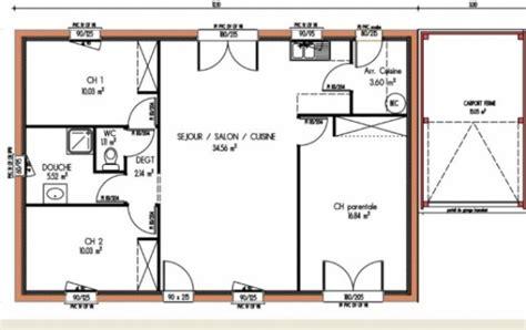 plan de maison 3 chambres salon plan et photos maison 3 chambres de 84 m