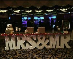 mr mrs letter table something borrowed party rentals With letter table rental