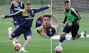 Arsenal players prepare for game against Aston Villa as ...