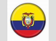 Ecuador Button Flag Round Shape Stock Illustration
