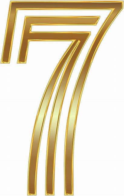 Number Seven Clip Clipart Numbers Decorative Transparent