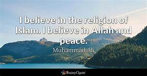 I believe in th... Muhammad Religion Quotes