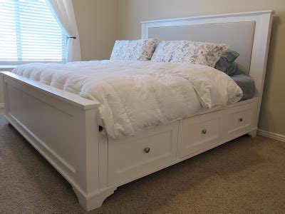 king size bed plans  drawers  woodworking