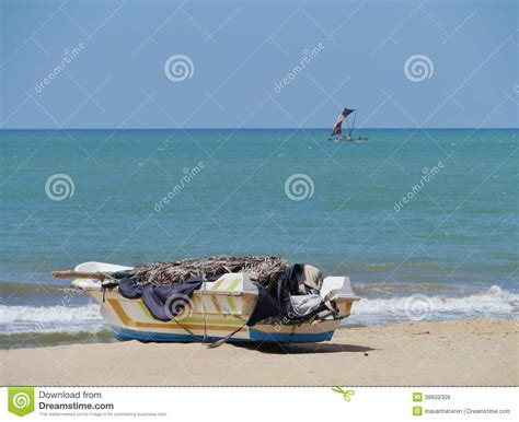 Modern Fishing Boat In India by A Traditional And A Modern Fishing Boat Royalty Free Stock