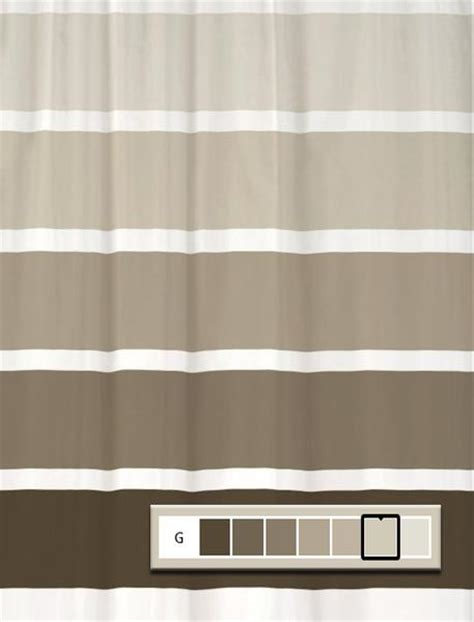 shower curtain rugby stripe  choose colors  size