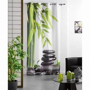 Deco Interieur Zen : decoration interieur zen et nature 2 rideau equilibre zen vert 140x240cm digpres ~ Melissatoandfro.com Idées de Décoration