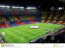 FC BARCELONA editorial stock image Image of crowded