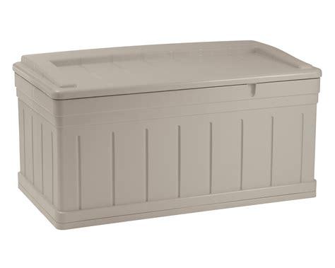 Suncast Large Deck Box Assembly by Suncast 129 Gallon Deck Box Lawn Garden Sheds