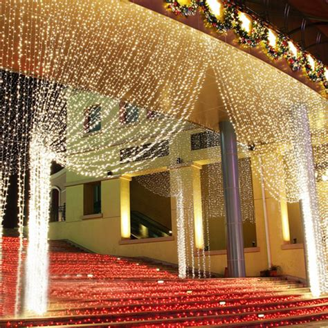 curtain outdoor christmas lights 300 leds string lights curtain light outdoor christmas