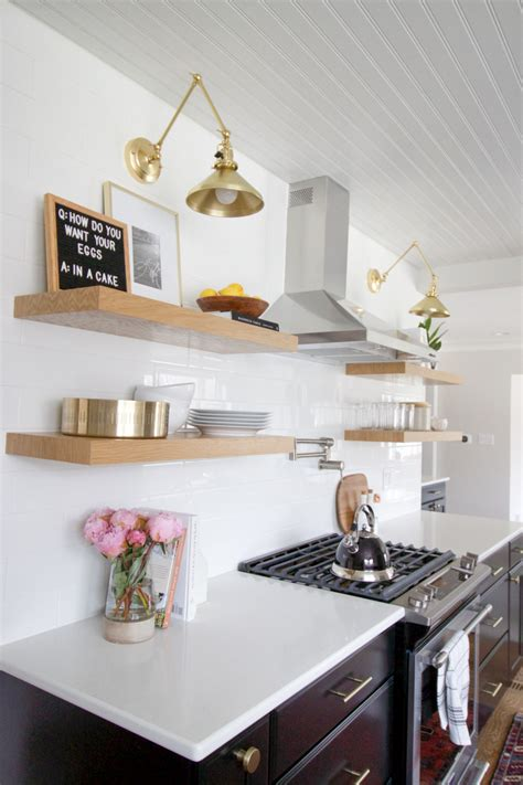 style open shelves   kitchen  diy playbook