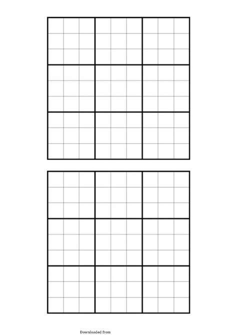blank sudoku grid  format  databaseorg