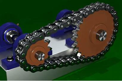 Animation Chain Sprocket Mechanical Chains Roller Robots