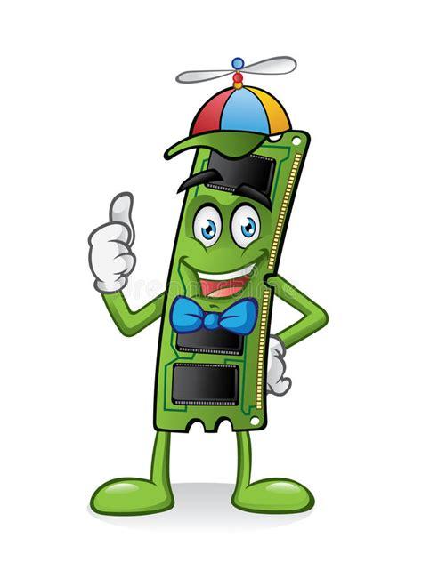 ram memory card cartoon stock vector illustration