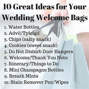 10 great ideas for your wedding welcome bags wedding With wedding gift for guests