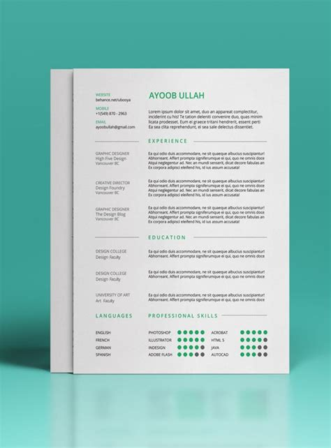 Behance Free Resume Template by Free Resume Template On Behance Portfolio Design