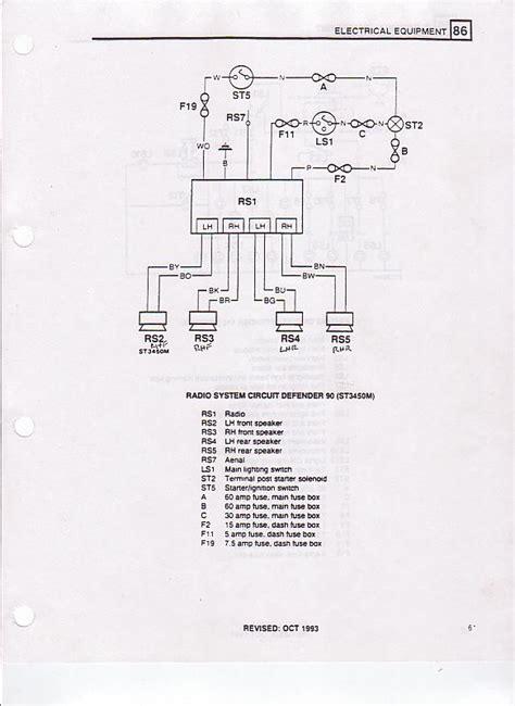 94 nas d90 radio wiring diagram land rover forums
