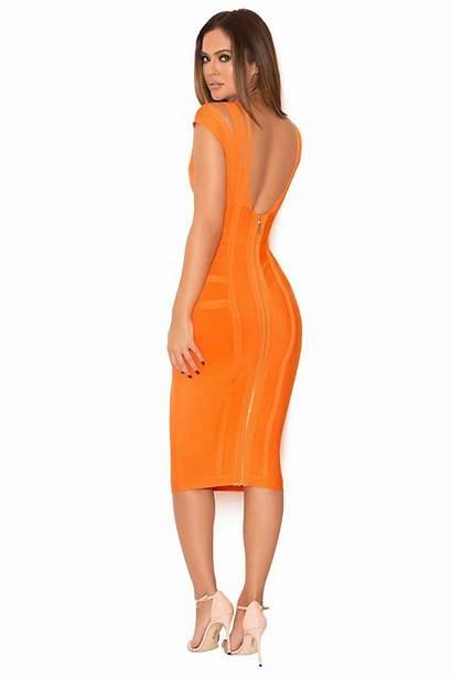 Bandage Dresses Mimi Houseofcb Shoulder Orange Clothing