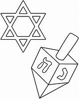 Dreidel Coloring David Star Pages Hanukkah Printable Cliparts Clipart Story Clip Library Transparent Background Getcoloringpages Comments sketch template